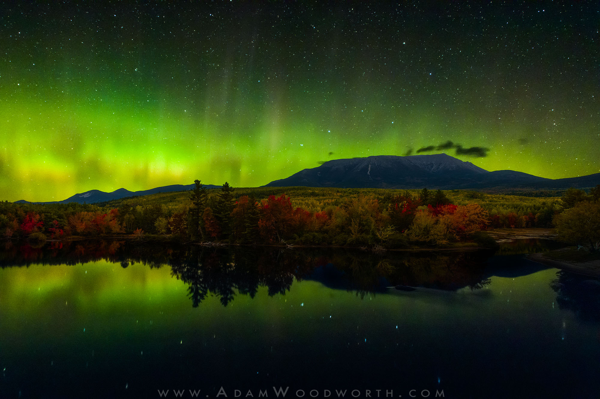 Autumn Aurora Over Mt. Katahdin