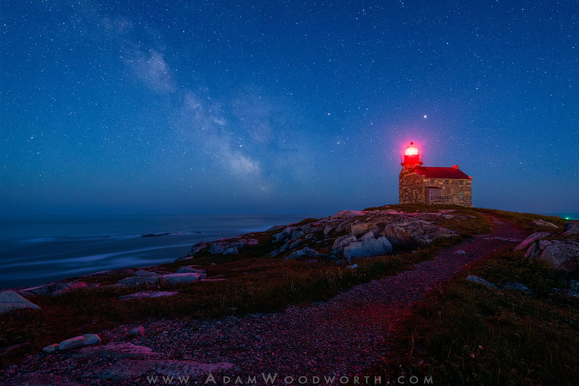 Twilight Milky Way at Rose Blanche Lighthouse